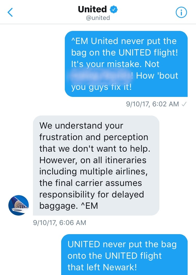 United airlines doesn't care about solving their mistake