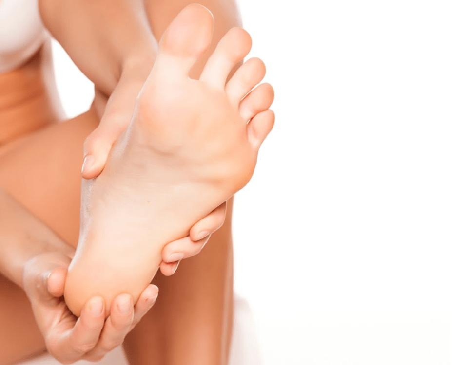 pés hidratados