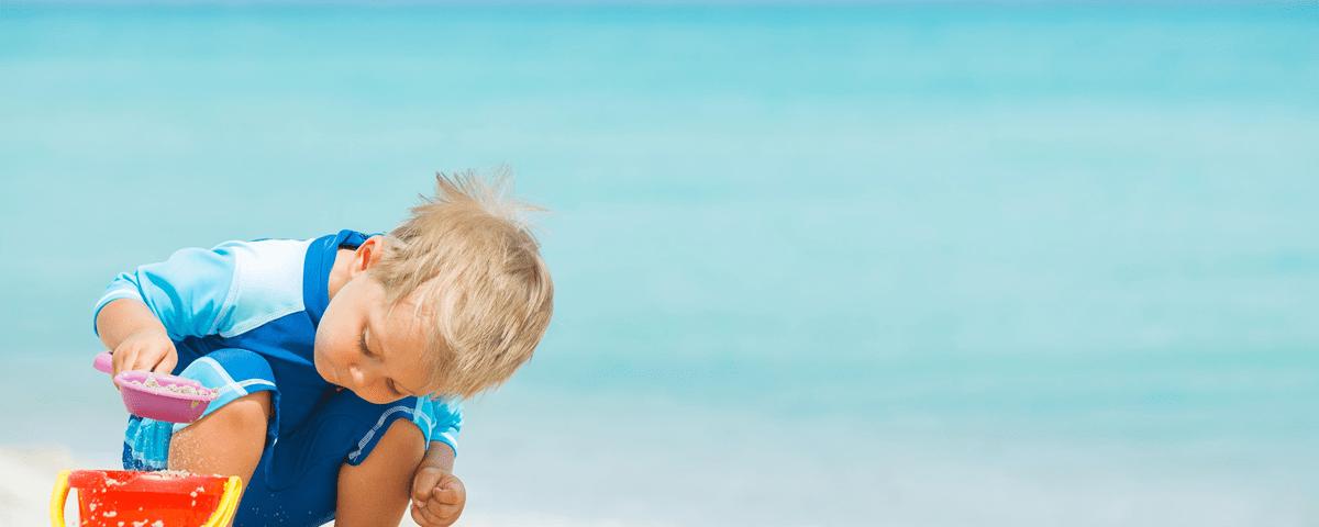 Criança no verão