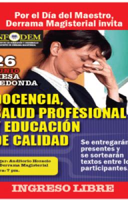 Docencia, salud profesional y educación