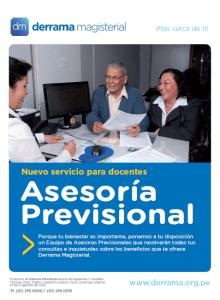 Asesoría Previsional: Un servicio de Derrama Magisterial para sus asociados
