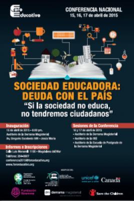 foro educativo Conferencia Nacional Sociedad Educadora: Deuda con el país