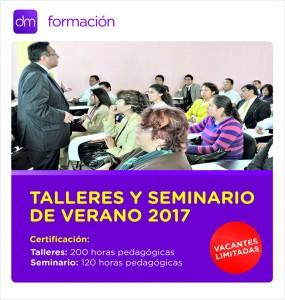 DM Formación anuncia sus Talleres y Seminarios para este verano 2017