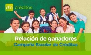 Relación de Ganadores: Sorteo Campaña de Crédito Escolar 2017