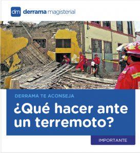 Maestros, ¿Qué hacemos en caso de un terremoto?