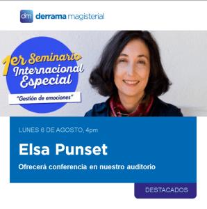 Elsa Punset en Lima: Conferencia para maestros
