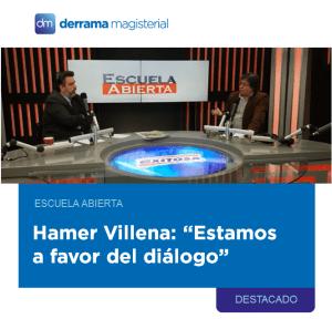 Escuela Abierta: Entrevista al profesor Hamer Villena