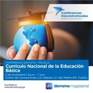 3 de Noviembre: Conferencia educativa gratuita en Trujillo