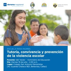 19 de julio: Escuela para Padres llega al Callao