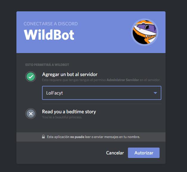 WildBeast: Un bot de código abierto para Discord