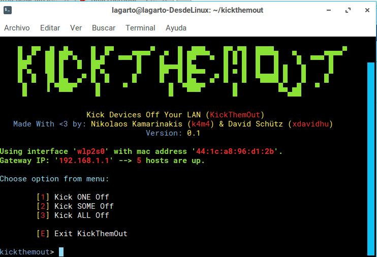 Cómo dejar sin Internet a los intrusos con kickthemout