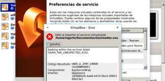 No se puede importar el archivo ova en Virtualbox
