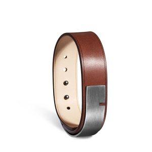 Bracelet-homme-u-turn-19-marron-acier-ursul
