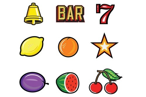 Free Casino Vector Kit by Hero, Casino Slot Machine Icons Cherry, Bar, Lemon, Star, Las Vegas, Free, freebie