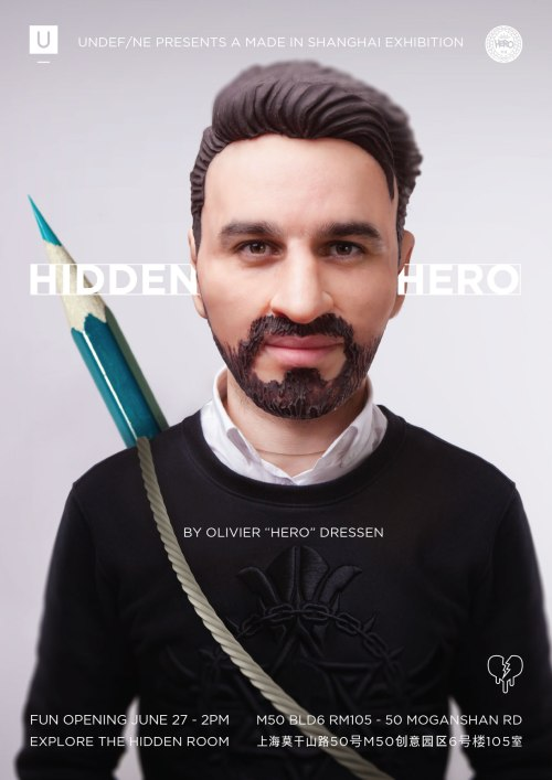 Solo Exhibition Olivier Hero Dressen Shanghai Made in Shanghai 2015 Hero Artworks Photography design illustration colorfull dark memories portraits pop art contempory art city weekend undefine galery