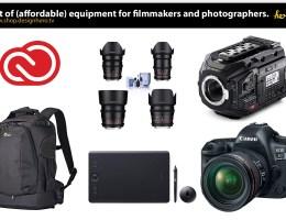 List of Affordable Equipment For Photographer And Filmmaker blog.designhero