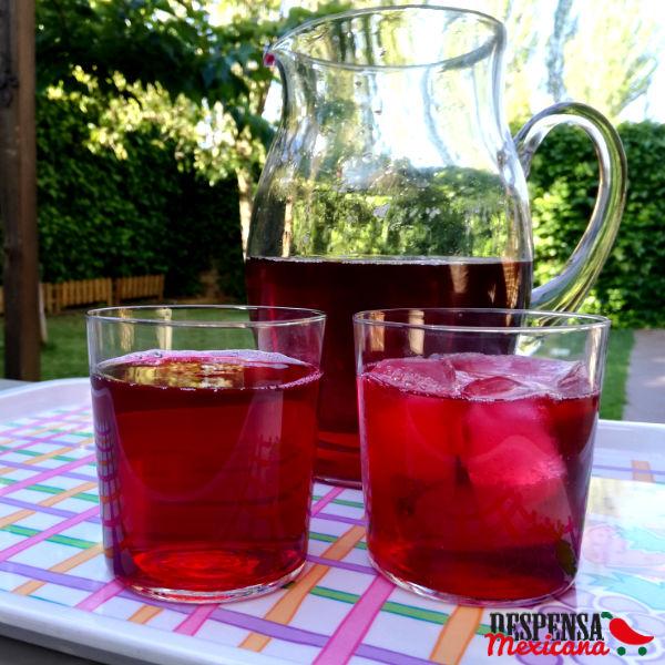 receta agua de jamaica
