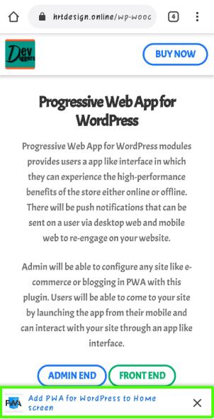 Progressive Web App (PWA) mobile step 1