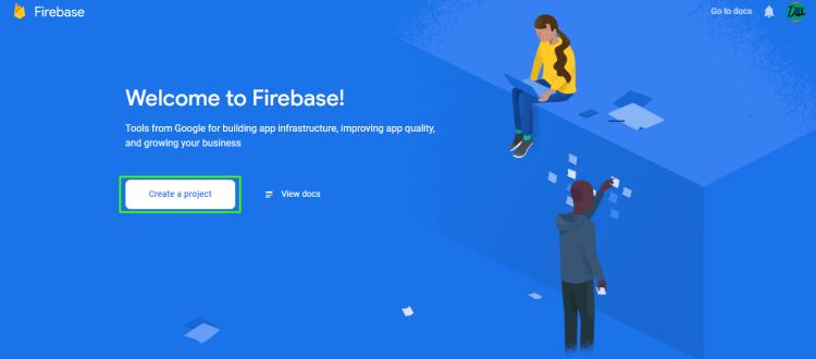 Push Notifications Firebase setup step 1