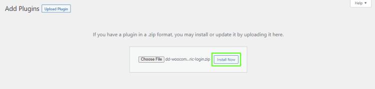 Install WooCommerce Biometric Login plugin