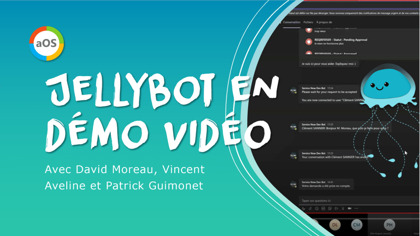 Démo vidéo du chatbot JellyBot – Communauté aOS