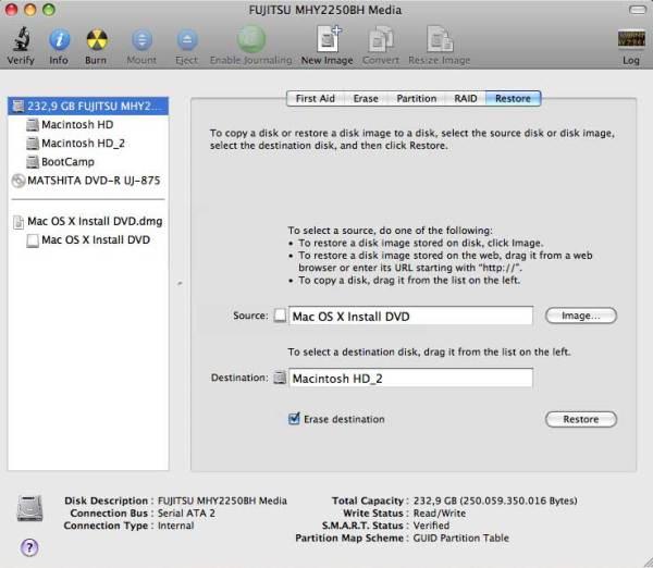 Restore Disk Image