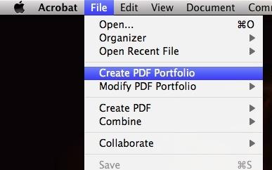 Create PDF Portfolio