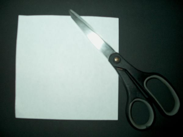 How to Make Paper Snowflakes Step 1