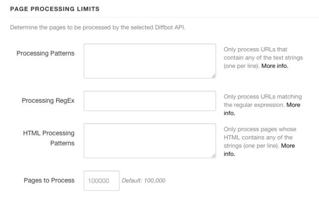 Processing limits