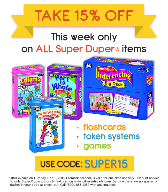 Super Duper Inc. Promo Codes for December Save 30% w/ 12 active Super Duper Inc. Sales. Today's best ninggifunan.ga Coupon Code: 20% Off Sitewide at Super Duper Inc.. Get crowdsourced + verified coupons at Dealspotr/5(9).