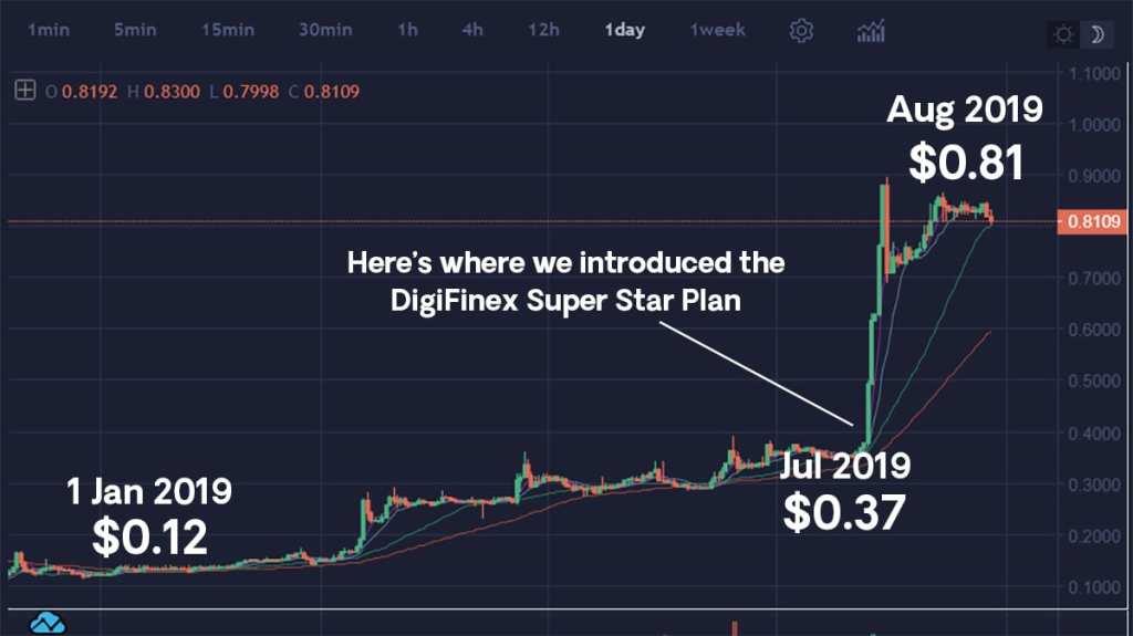 DigiFinex Token 2019 rally