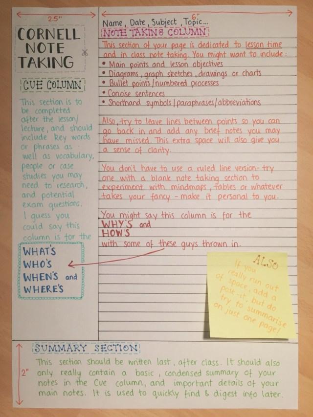cornel-note-taking