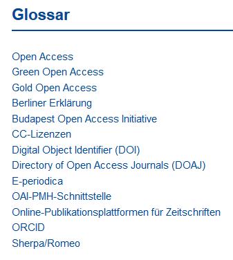 open-access-glossar