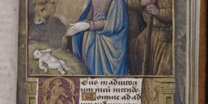Beinecke MS 436, Vanderbilt Hours, f. 27r, Nativity
