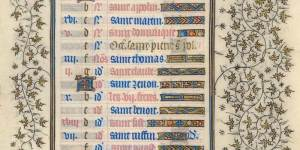 Belles Heures of Jean de France, Duc de Berry, f.8r, Calendar: summer
