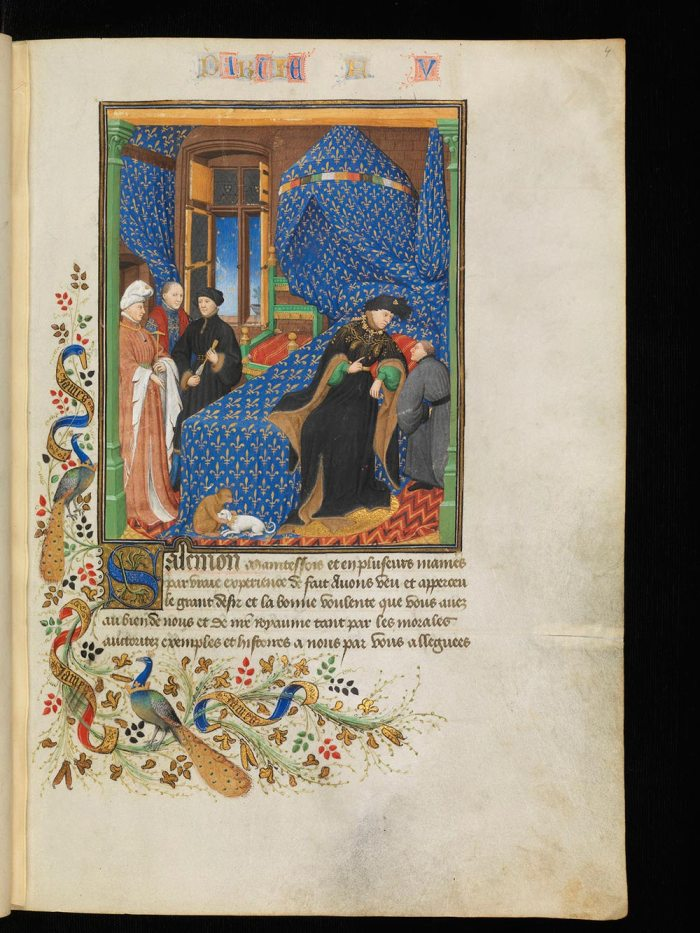 Pierre le Fruitier, called Salmon, Traictés de Pierre Salemon a Charles VI roy de France [Dialogues, second version] from e-Codices