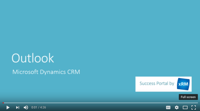 Outlook CRM Video - Microsoft Dynamics 365 CRM