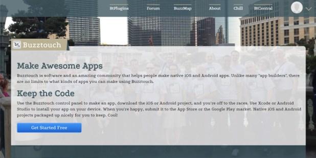 Buzztouch situs pembuat aplikasi android terbaik gratis