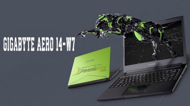 Gigabyte Aero 14-W7, Laptop Gaming Mantap Core i7 dan GTX 1060 6GB