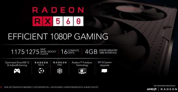 Harga dan Spesifikasi VGA AMD Radeon RX 560