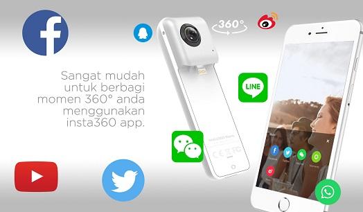 Kamera 360 derajat Terbaik Untuk HP Smartphone Android Iphone Brica Insta360