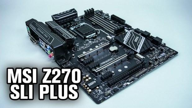 Motherboard Gaming Terbaik MSI Z270 SLI Plus