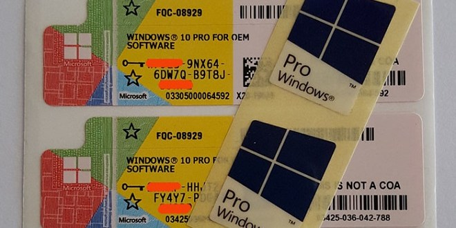 Perbedaan Lisensi Windows COA, OEM, OLP dan FPP Pada Microsoft