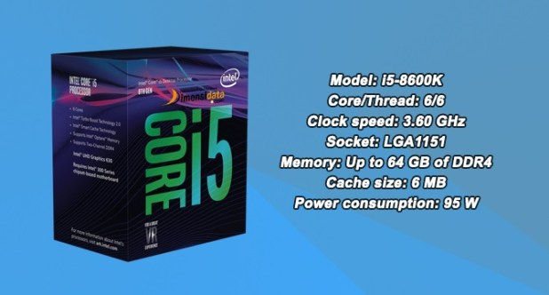 Processor PC Gaming Terbaik Intel Core i5-8600K