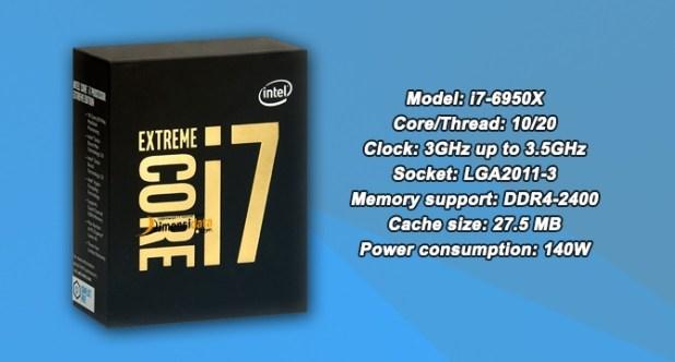 Processor PC Gaming Terbaik Intel Core i7-6950X