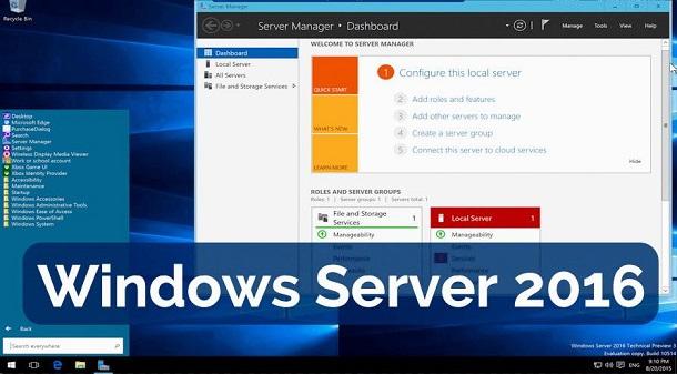 Tampilan Baru Pada Windows Server 2016