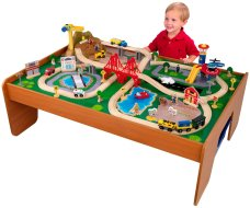 Toys to Encourage Independent Standing; train table