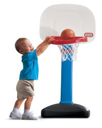 Toys to Encourage Independent Standing; toddler basketball