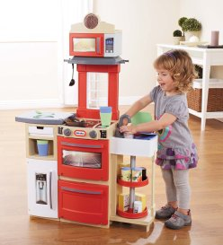 Toys to Encourage Independent Standing; play kitchen