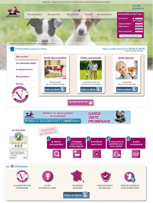 Site de pet sitting animaute